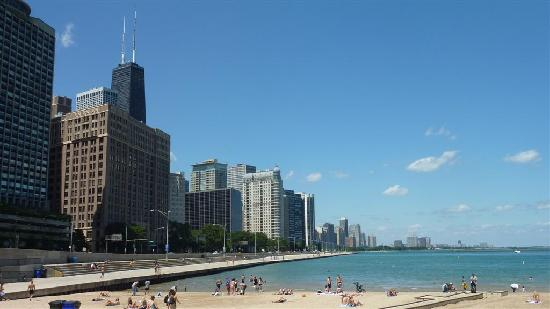 Ohio Street Beach: Your view from the beach