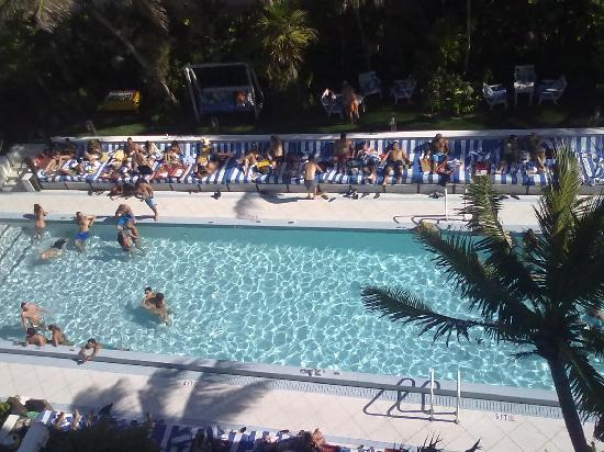 Soho Beach House: View of the pool from our room