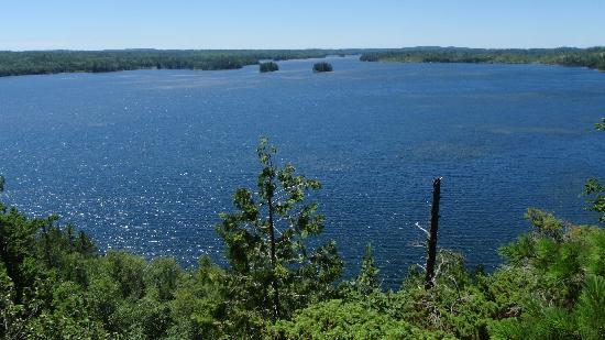 Boundary Waters Canoe Area Wilderness: Birch Lake from Thunder Island