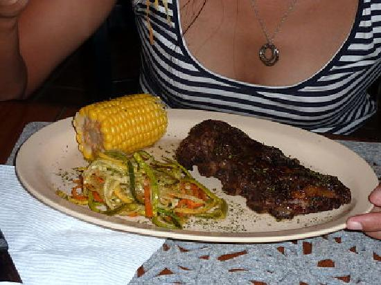Coconut Junction: ribs, corn, vegetables