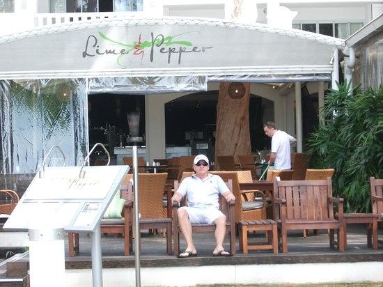 Lime & Pepper Restaurant: Outside of Lime & Pepper