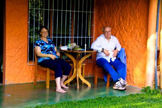 Rleaxing at Cabinas los Guayabos