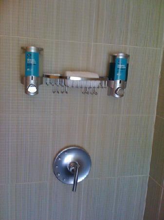 aloft mount laurel shower no bar soap shampoo and soap in dispenser