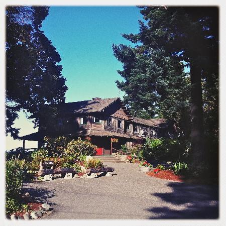 The Captain Whidbey Inn: the inn's entrance