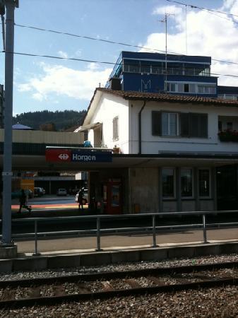 Hotel Meierhof: Meierhof vom See aus.