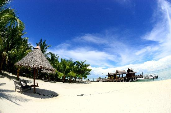 Pulau Mabul, Malasia: 白いビーチ