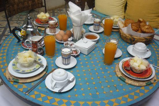 Riad Maroc breakfast