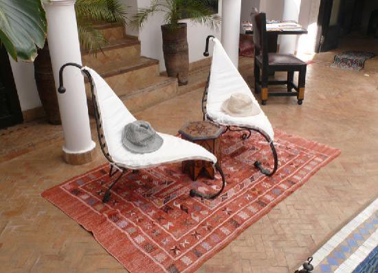 Riad Baba Ali: patio particolare