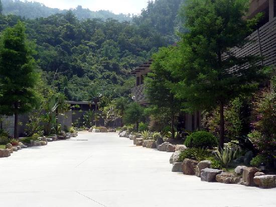 Goya Spring Resort: 客房區與周邊的山景混為一色
