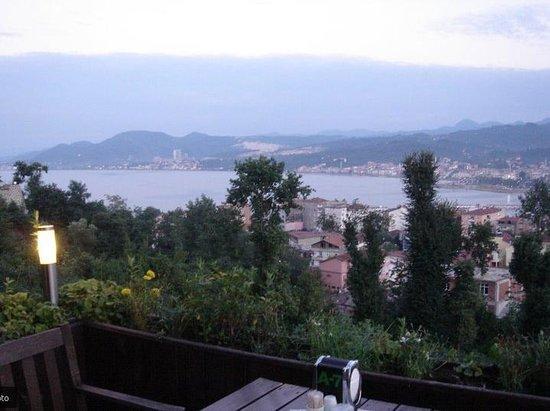 Unye, تركيا: Vista desde la terraza del Pelit Park