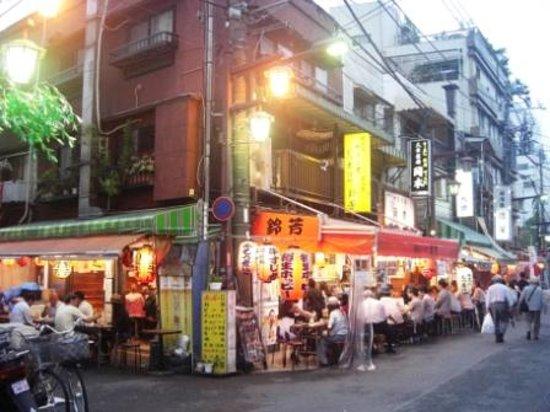 Tōkyō-to Taitō-ku street of Daikatsu and similar outdoor restuarants & bars