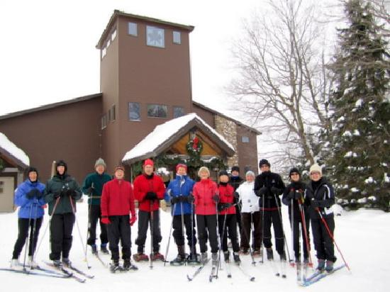 Maplelag: Ready for a day of skiing and snowshoeing!