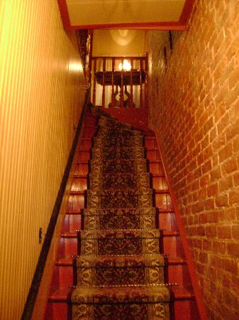 Chateau des Tourelles: Stairs of the main entrance that lead immediately up to the first floor.