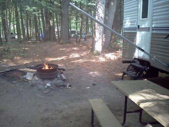 Tamworth Camping Area : Campfire area