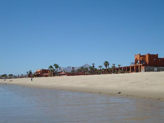 San Felipe, México: view of hotel from the beach