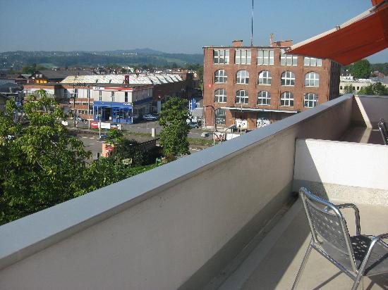 Hotel Metropol: Auf dem Balkon.