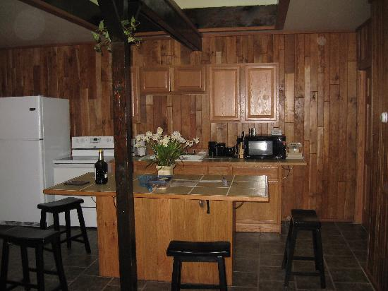Log Cabin Lodge and Suites: kitchen