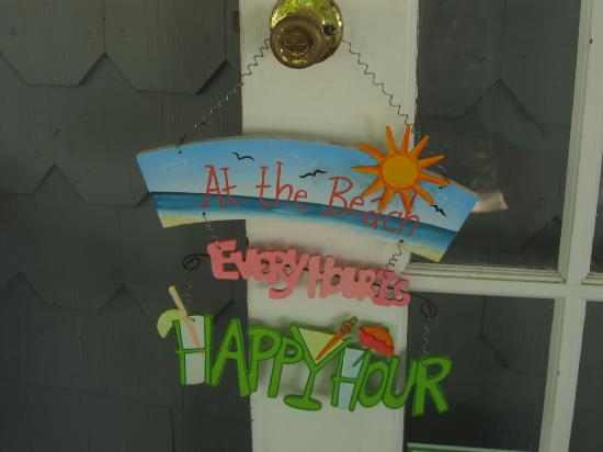 At Melissa's B & B: Happy Hour sign