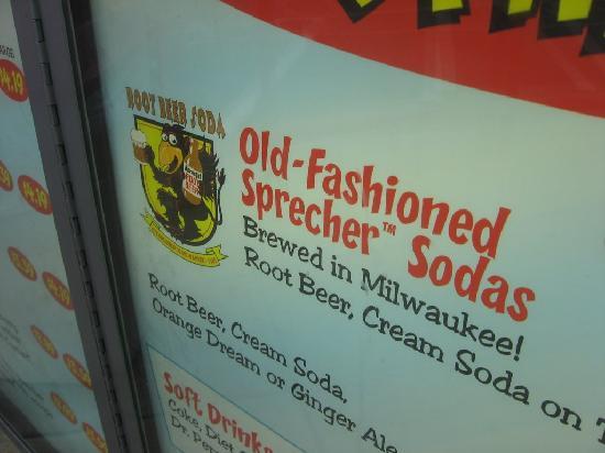 Andy's Frozen Custard: Andy's serves Sprecher Root Beer