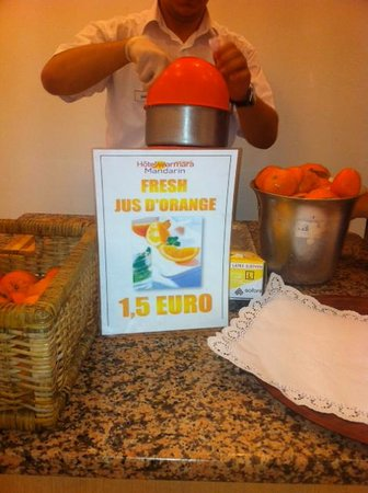 "Mandarin Resort: ""all inclusive"", merci le jus d'orange à 1,50€"