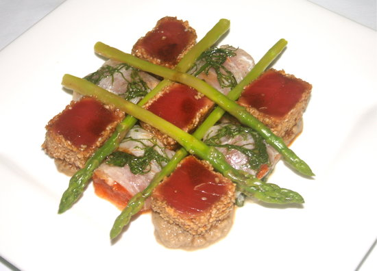 Park Cafe: Tuna Fillet with Carpaccio of Red Snapper