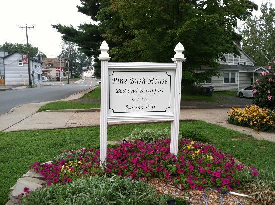 Pine Bush House Bed & Breakfast: THE PINE BUSH HOUSE SIGN