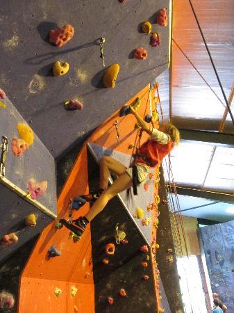 Keswick Climbing Wall: Meg on the climbing wall