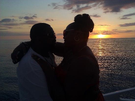 Sandals South Coast : Sunset cruise on the catamaran