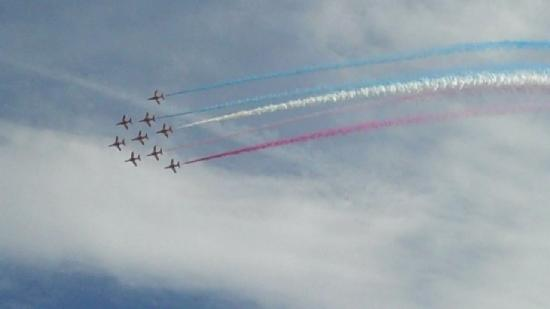TravelRest Hotel Bournemouth: The Brilliant Reds at the Air Festival