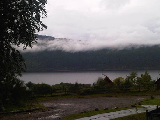 Lodges on Loch Ness: view from lower deck