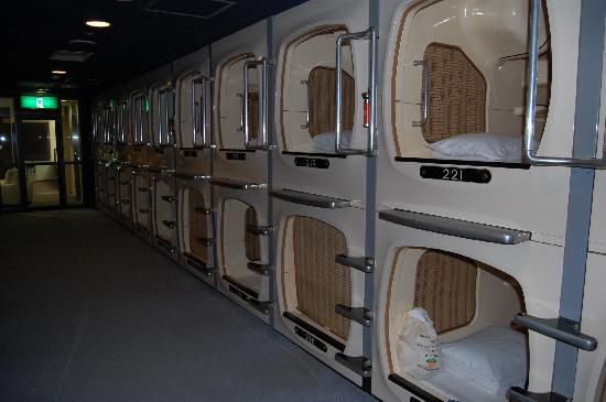 Capsule Inn Sapporo: an interesting experience - and good practice for the family vault in the mausoleum
