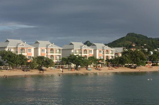 Bay Gardens Beach Resort : View from boat of resort