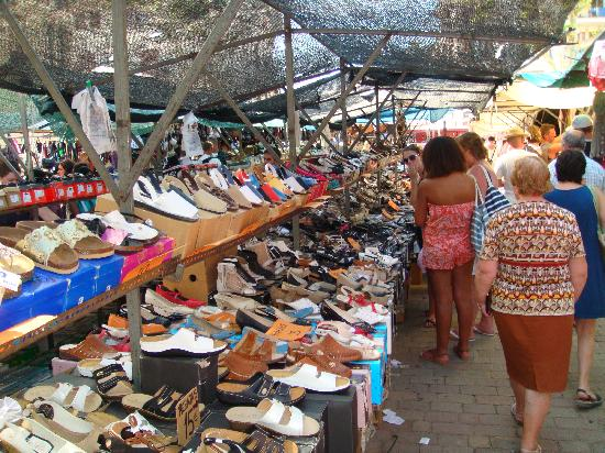my wife loves shoes millions of them Picture of Alcudia Old