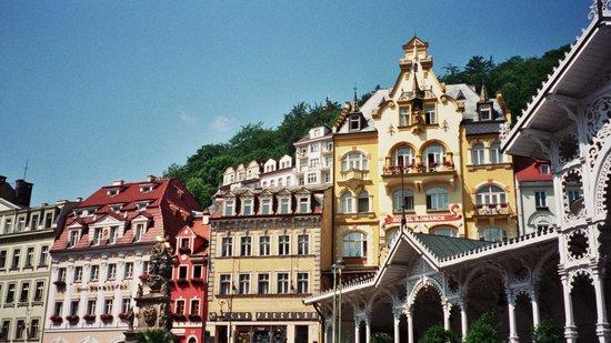 Praha, Republik Ceko: Karlovy Vary-vista general