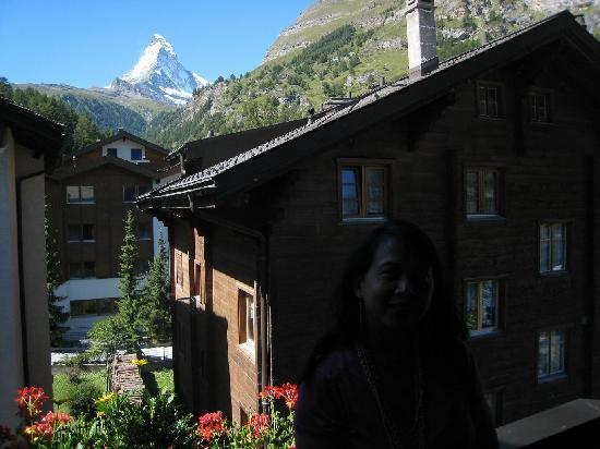 Hotel Albana Real: The porch of room 306 has a clear view of the Matterhorn