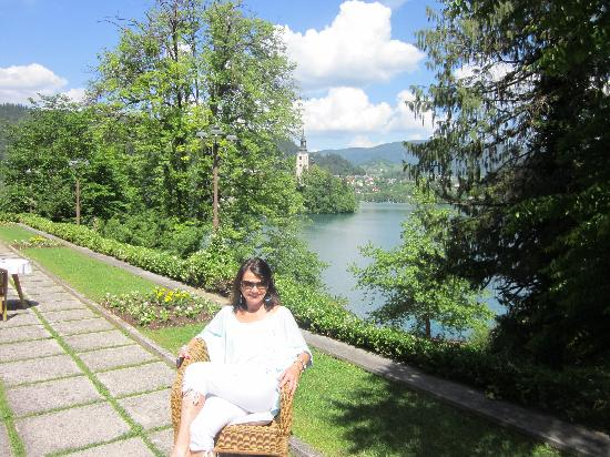 Vila Bled: Views of the lake from the Breakfast Area