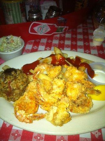 Mulate's: fried shrimp dinner