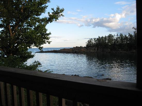 Cove Point Lodge: View of the cove from Mickey's Fish House.