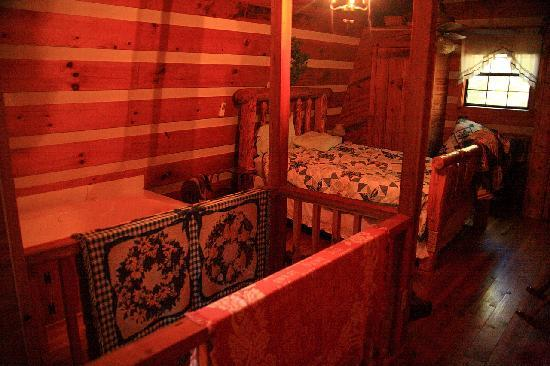 Blue Smoke Mountain Cabins: Moonshine Cabin upstairs bedroom