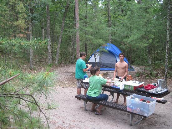 Platte River Campground: Our peaceful walk-in site.