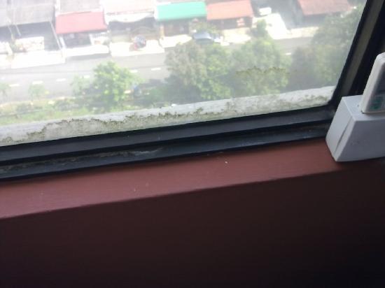GoodHope Hotel Skudai-Johor Bahru: Dirty window
