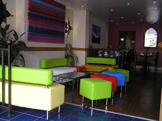 Saffron: The reception area