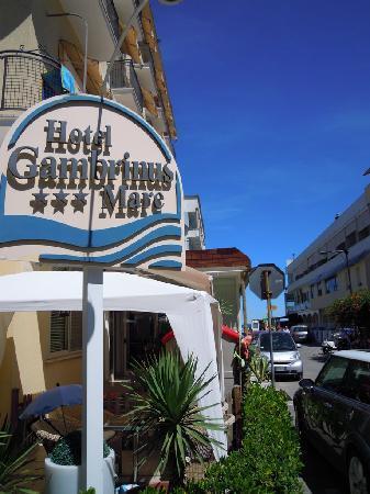 Hotel Gambrinus Mare: veduta dell'hotel con viale a mare sullo sfondo