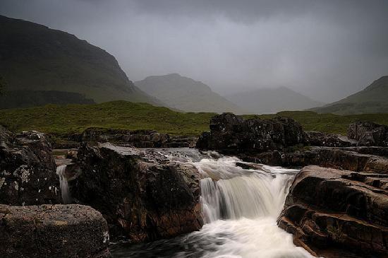 Glen Coe Photography Safari: 1st waterfall in Glen Coe