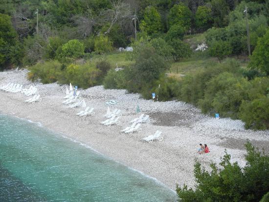 Hotel Orphee: la plage vue de la fenêtre de la chambre
