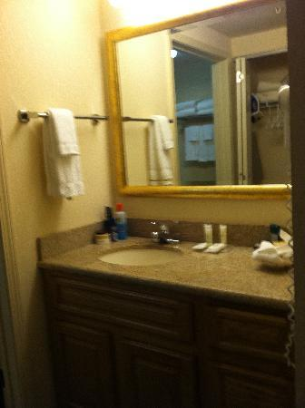 Homewood Suites by Hilton Eatontown : sink outside bath