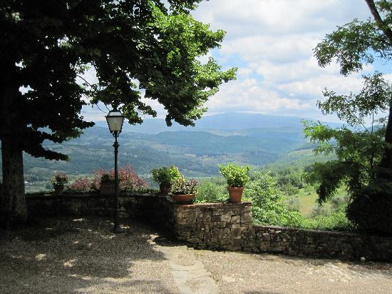 Il Trebbiolo Relais : Valley view from the villa