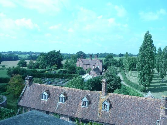 Sissinghurst Castle Farmhouse: view from the tower farmhouse in the background