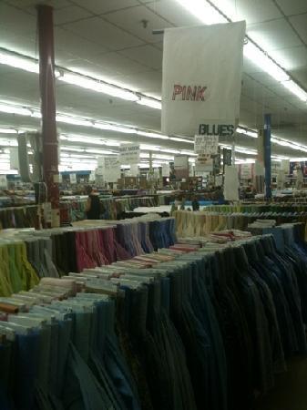 Mary Jo's Cloth Store: calico and main floor