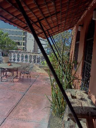 Casa Mexilio Guest House: My balcony at el Palomar, my room